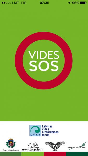 Vides SOS telefona ekrānuzņēmums